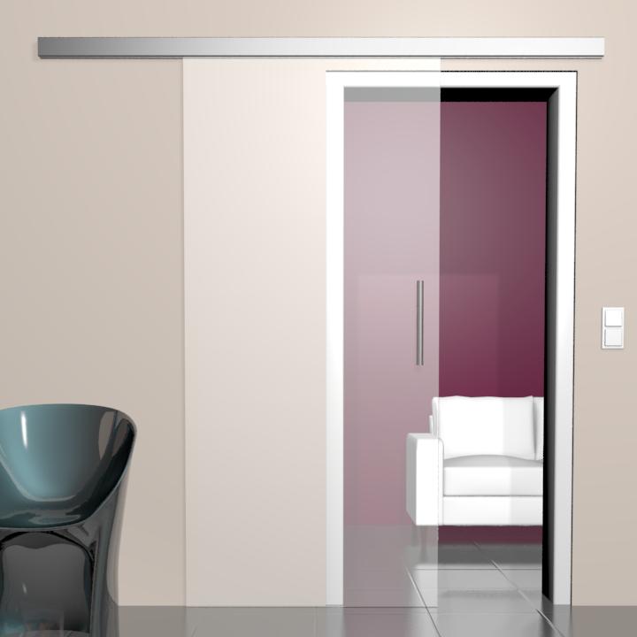 glas schiebet r modena satiniertes glas. Black Bedroom Furniture Sets. Home Design Ideas