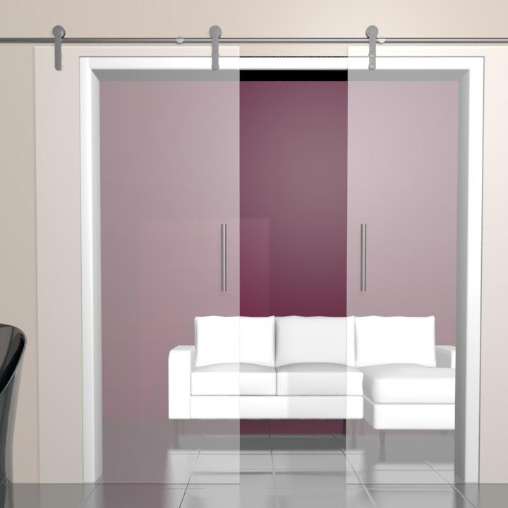 glas schiebet r bari satinato 2 fl gelig. Black Bedroom Furniture Sets. Home Design Ideas