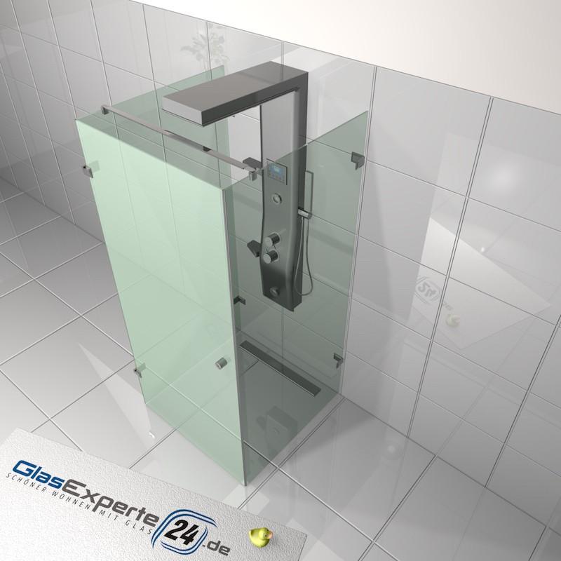 u form duschkabine mit einer t r und zwei festteilen klarglas. Black Bedroom Furniture Sets. Home Design Ideas