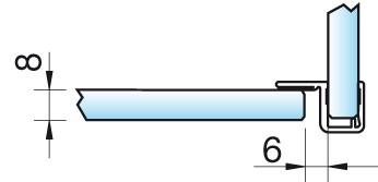 Anschlagdichtung 8855 - 2500 mm