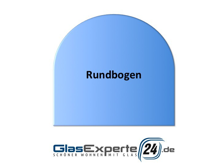 Kaminbodenplatte Rundbogen