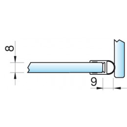 Streifdichtung 8861 - 2500 mm