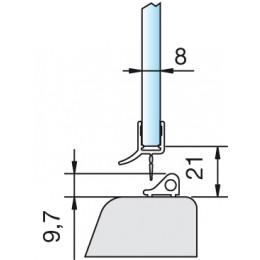 Wasserabweisprofil 8864 - 2010 mm