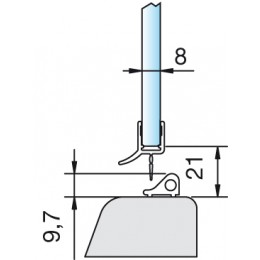 Wasserabweisprofil 8864 - 2500 mm