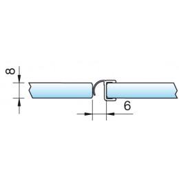 Streifdichtung 8865 - 2500 mm