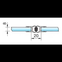 Magnetdichtprofil 8850 - 2500 mm